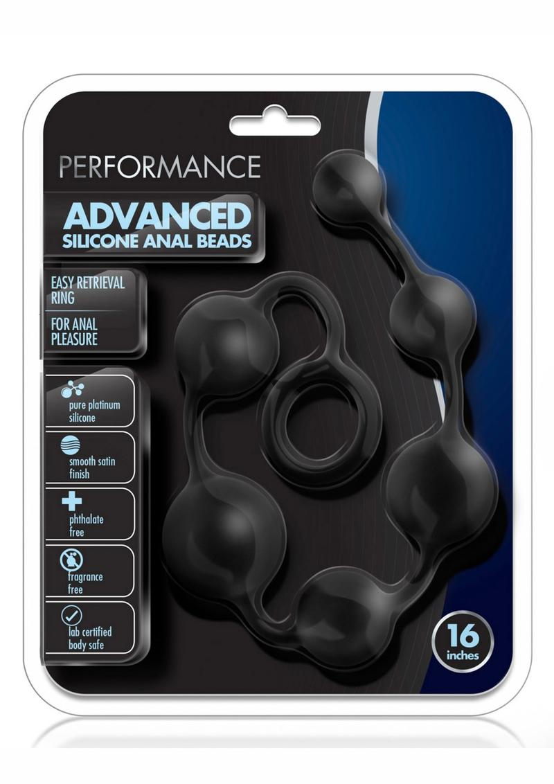 Performance Silicone Advanced Anal Beads - Black