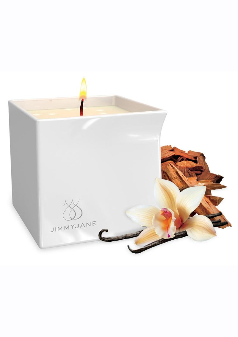 Jimmyjane Afterglow Natural Massage Oil Candle Vanilla Sandalwood 4.5oz
