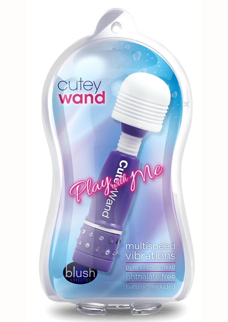 Play with Me Cutey Wand Massager - Purple