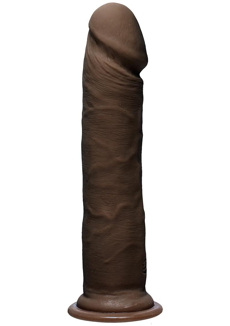 The D Realsitic D Ultraskyn Dildo 8in - Chocolate
