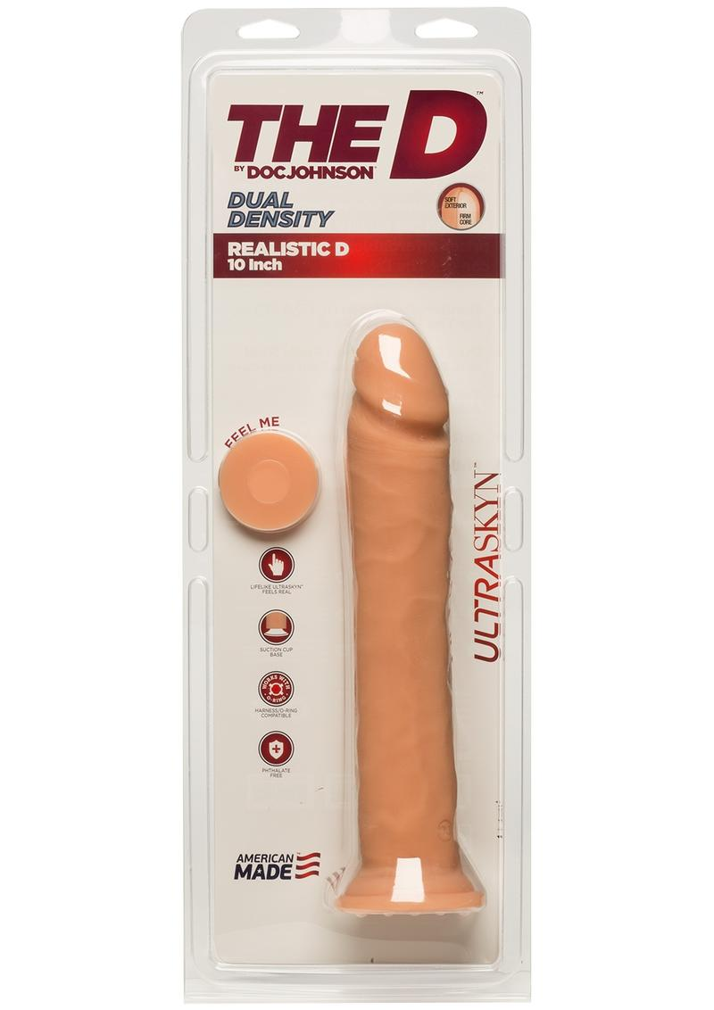 The D Realistic D Ultraskyn Dildo 10in - Vanilla