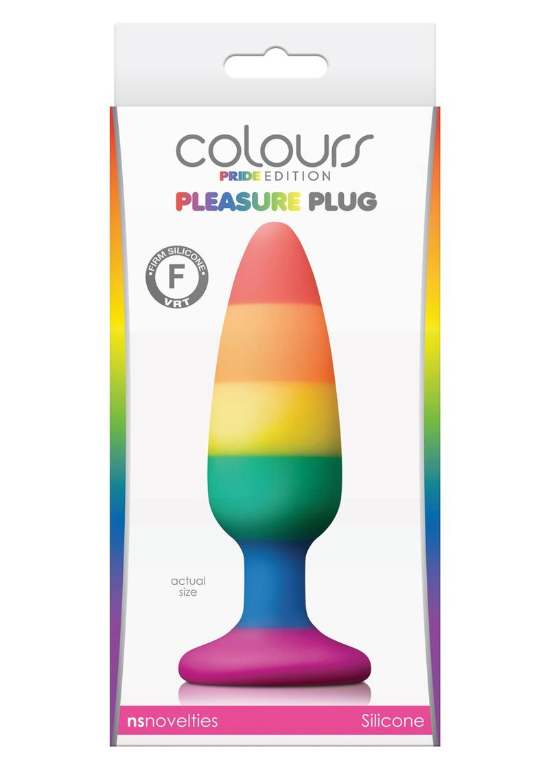 Colours Pleasure Pride Editon Silicone Butt Plug - Medium - Rainbow