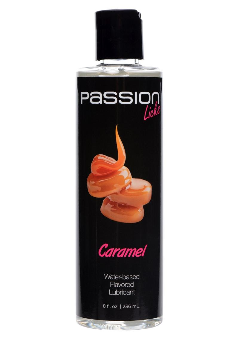 Passion Licks Caramel Water Based Flavored Lubricant 8oz