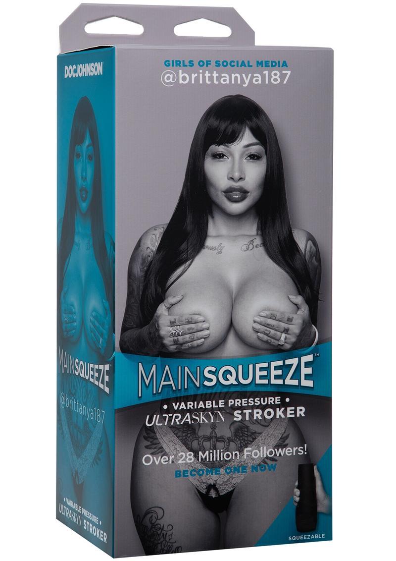 Main Squeeze Girls of Social Media @Brittanya187 Ultraskyn Masturbator - Pussy - Caramel