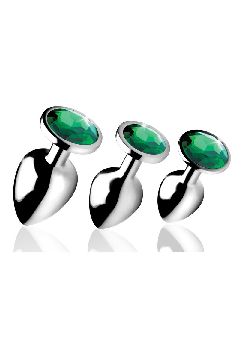 Booty Sparks Emerald Gem Anal Plug Set - Green