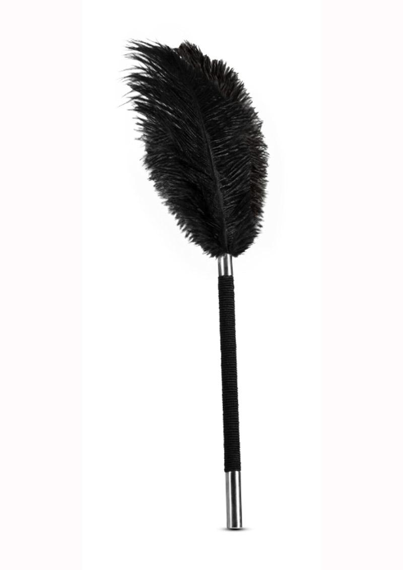 Noir Soft Feather Tickler - Black