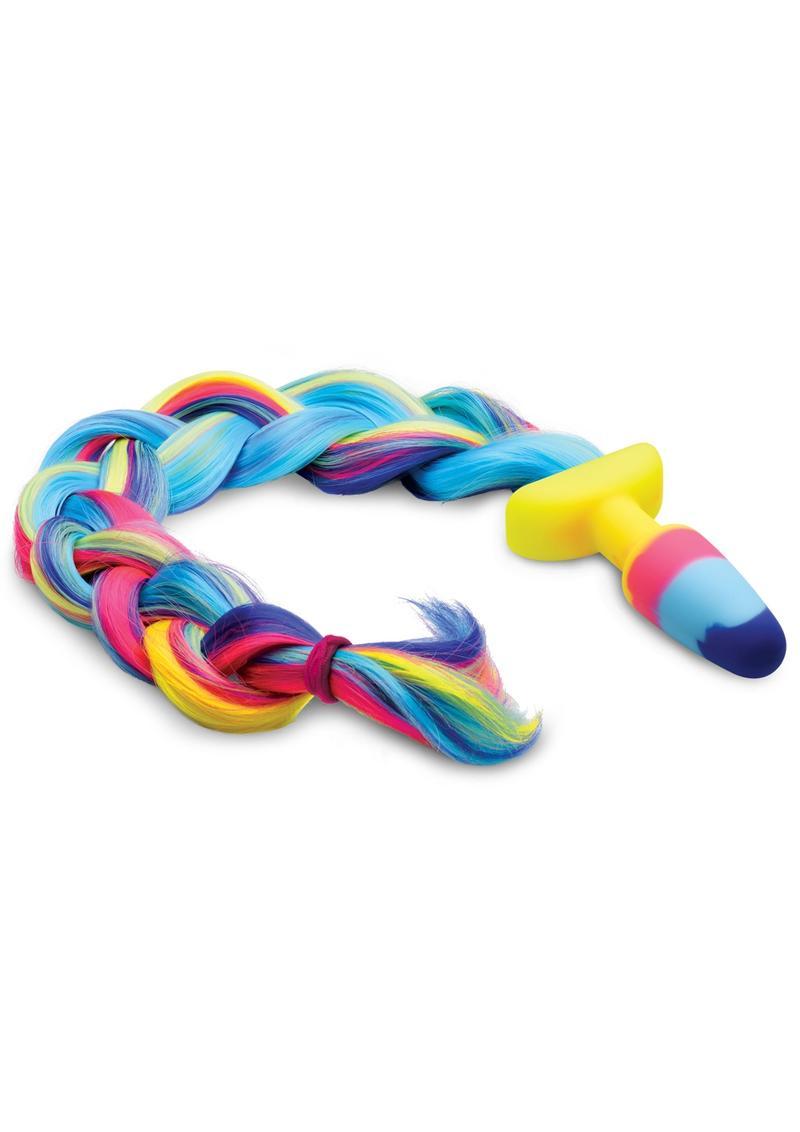 Tailz Unicorn Tail Anal Plug - Multicolor