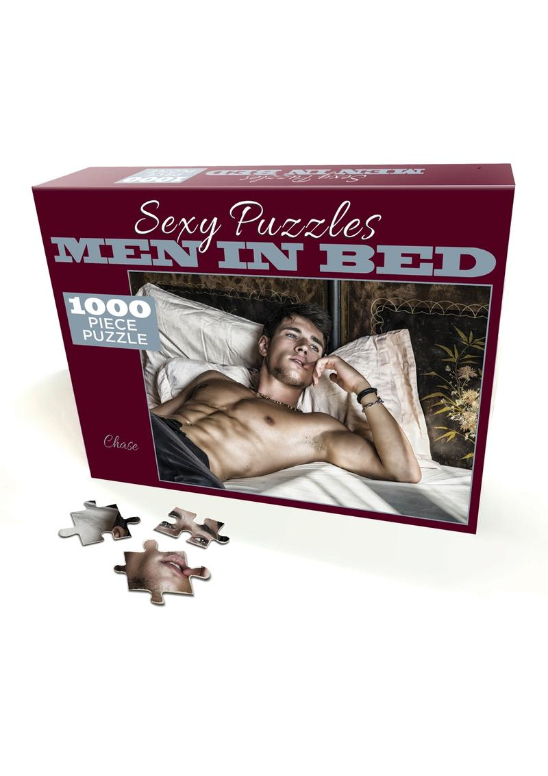 Sexy Puzzles Men in Bed Chase