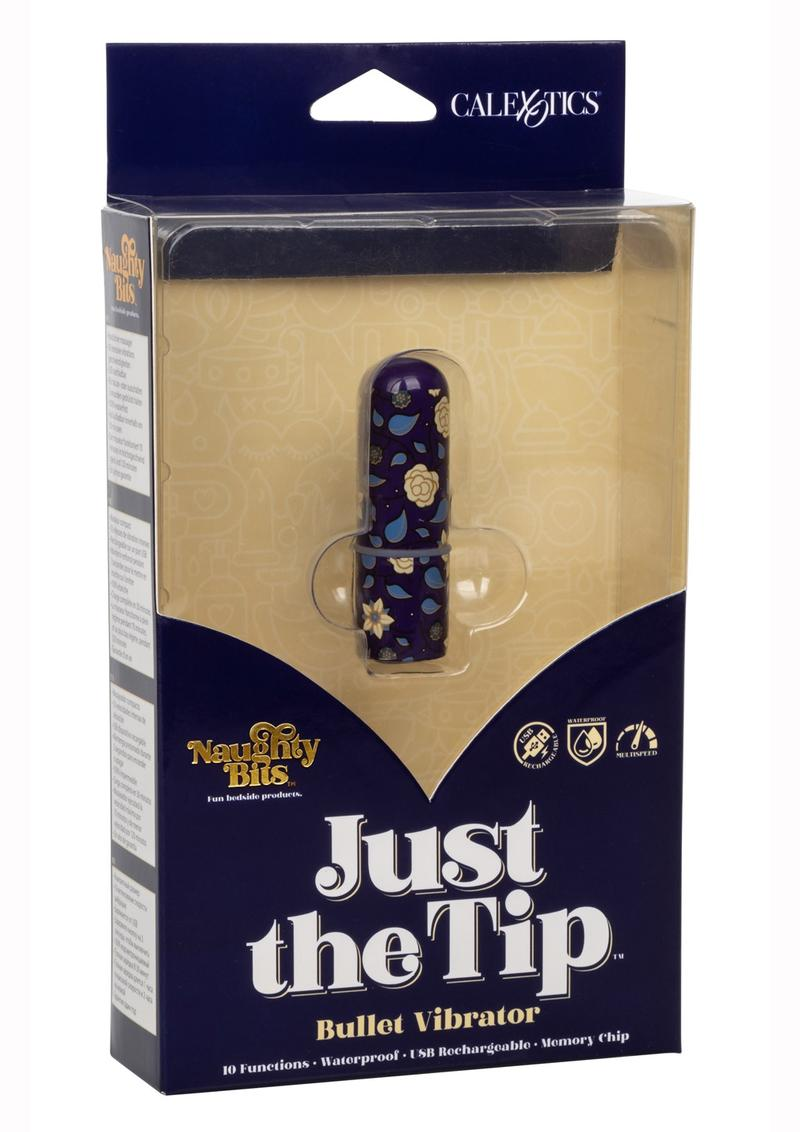 Naughty Bits Just The Tip Bullet Vibrator - Multi-Colored