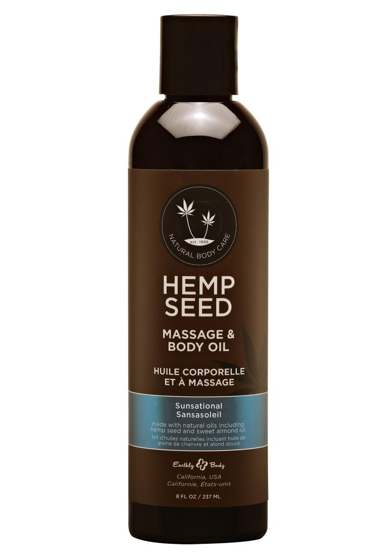 Hemp Seed Massage Oil Vegan Sensational 8oz