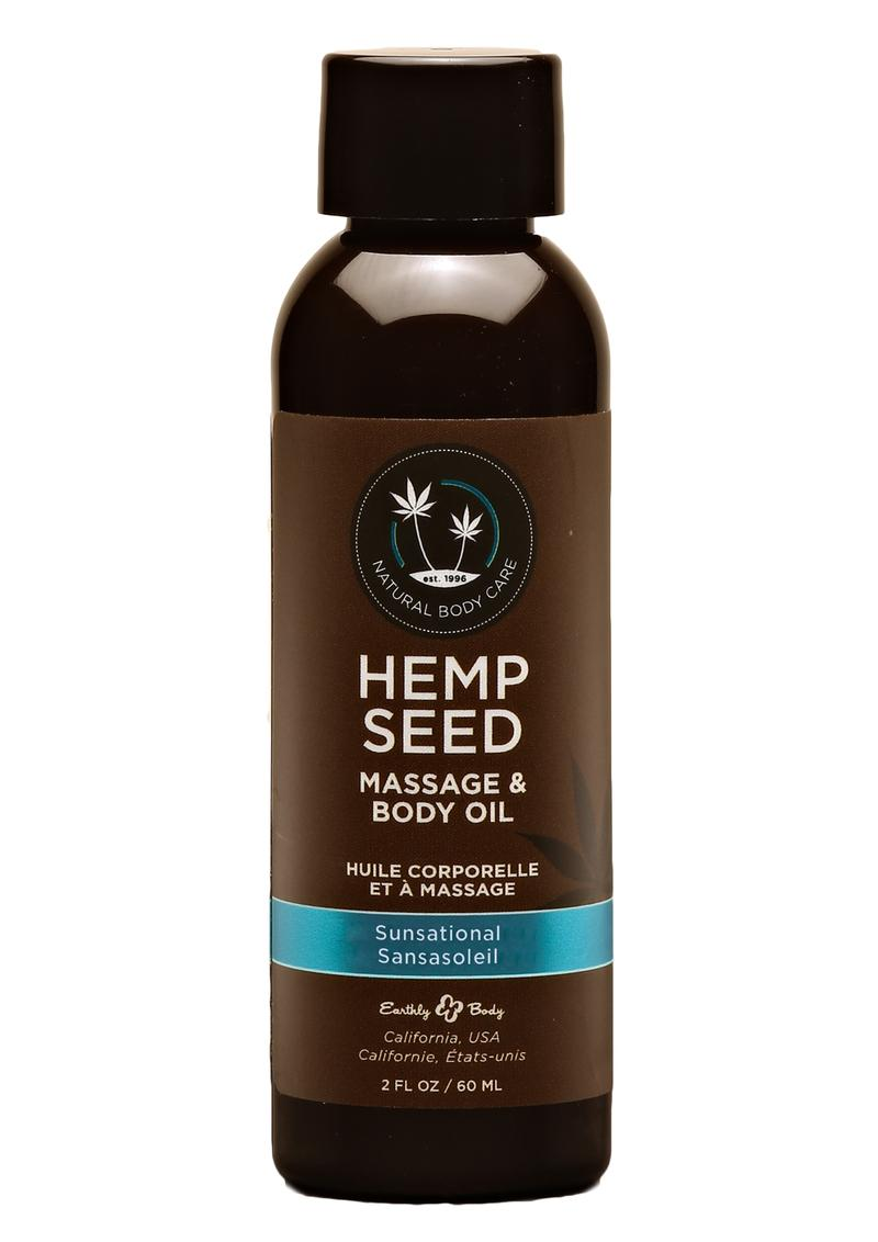 Hemp Seed Massage Oil Sunsation Vegan 2oz