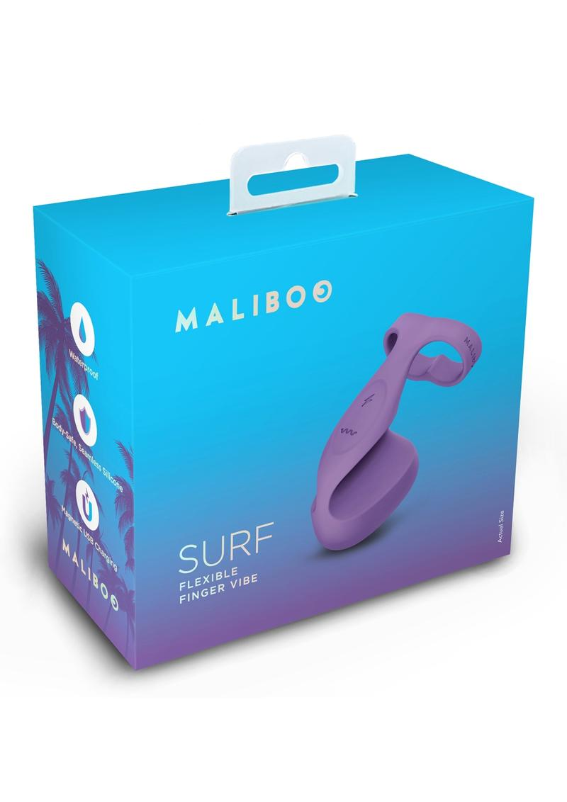 Maliboo Surf Rechargeable Vibrating Silicone Finger Vibe - Purple