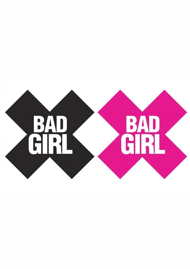 Peekaboo Bad Girl Pasties - Black/Pink