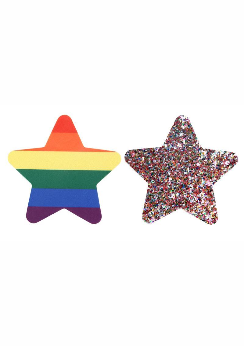 Peekaboo Pride Rainbow Glitter Stars Pasties - Rainbow
