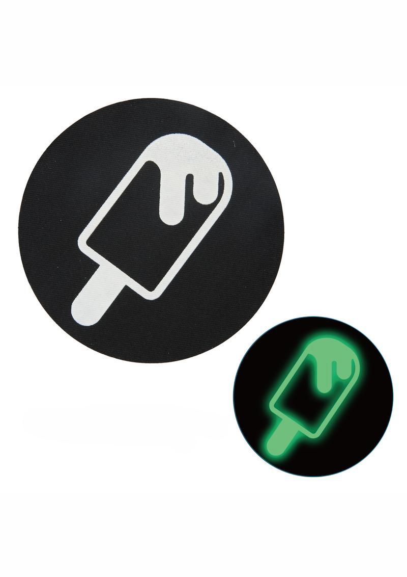 Peekaboo Glow In The Dark Ice Cream Pasties - Black/Green
