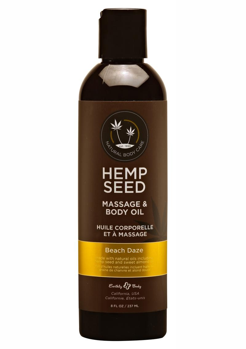 Hemp Seed Massage Oil Beach Daze 8oz
