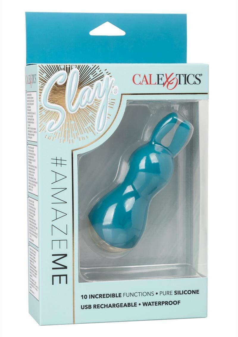 Slay #AmazeMe Silicone Rechargeable Bullet - Blue