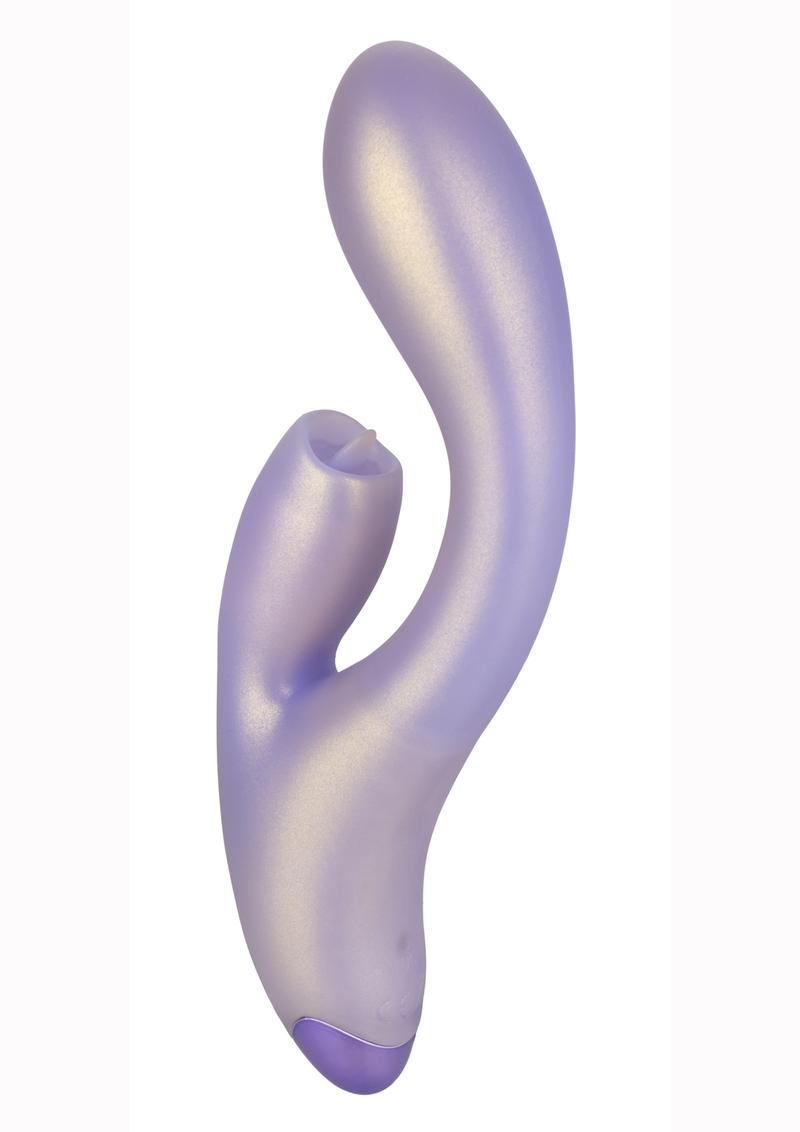 G-Love G-Kiss Silicone Rechargeable Dual Stimulating Massager - Purple