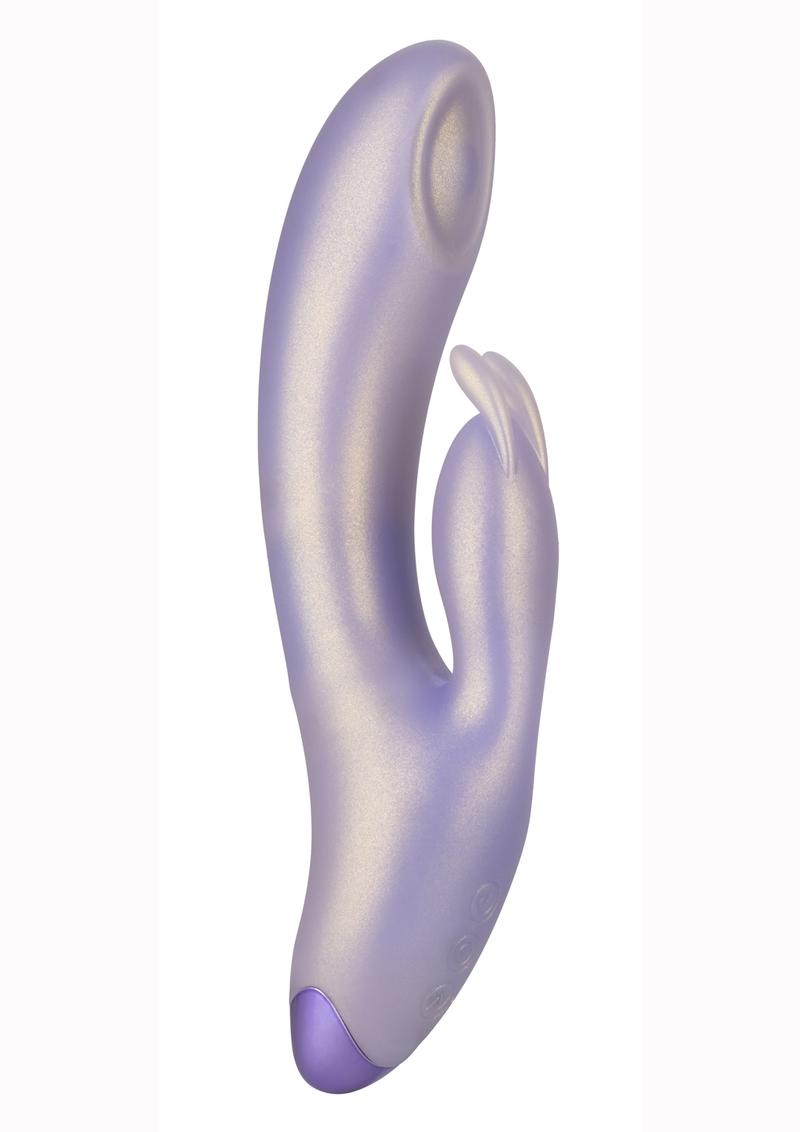 G-Love G-Bunny Silicone Rechargeable Dual Stimulating Massager - Purple