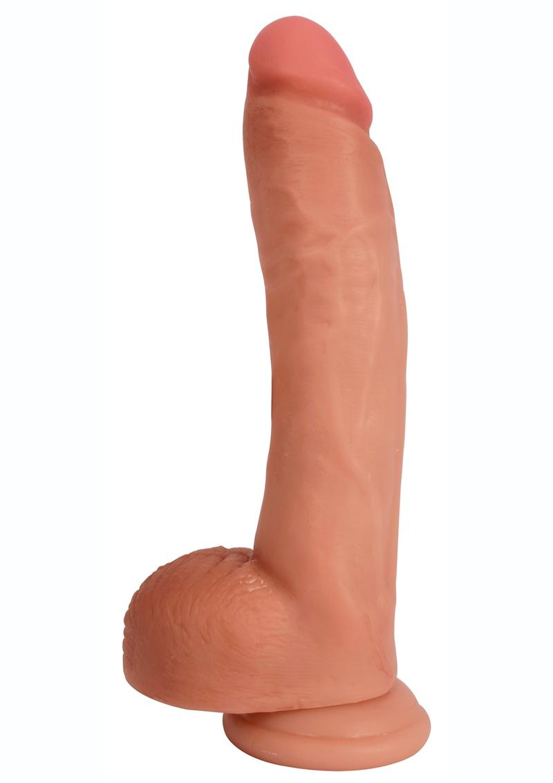 Jock Bareskin Realistic Dong With Balls 9in - Vanilla