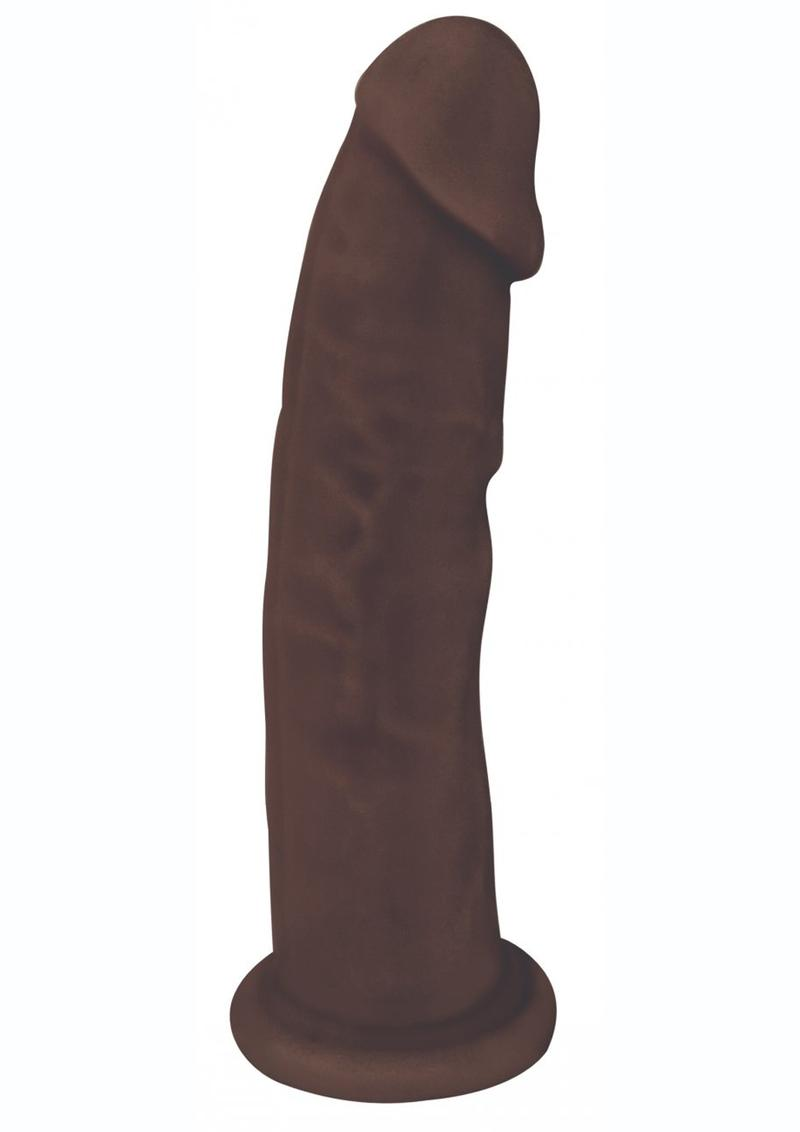 Fleshstixxx Dual Density Silicone Bendable Dong 8 in - Chocolate