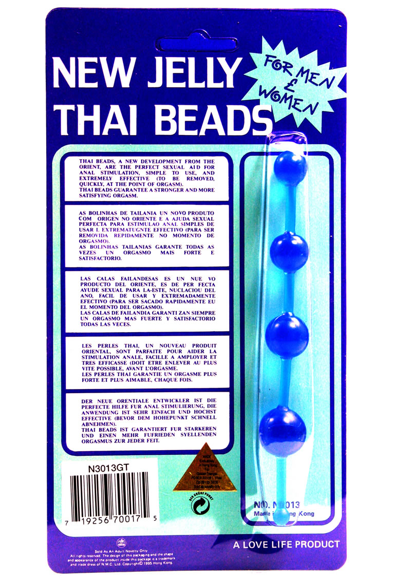 New Jelly Thai Beads - Blue
