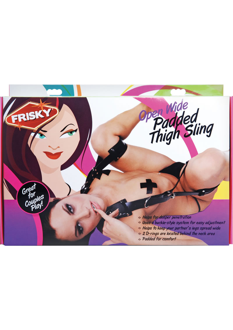 Frisky Open Wide Padded Thigh Sling Position Aid - Black