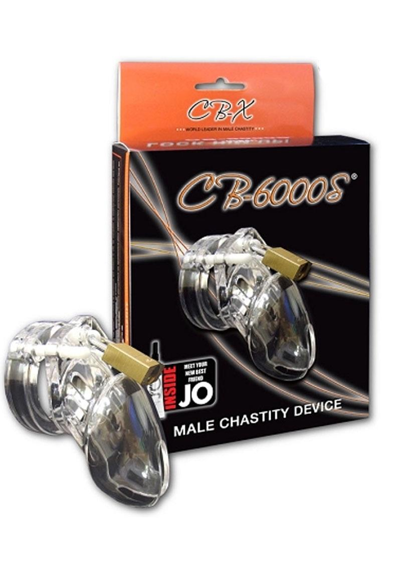 CB-6000S Designer Collection Male Chasitity Device With Lock - Clear