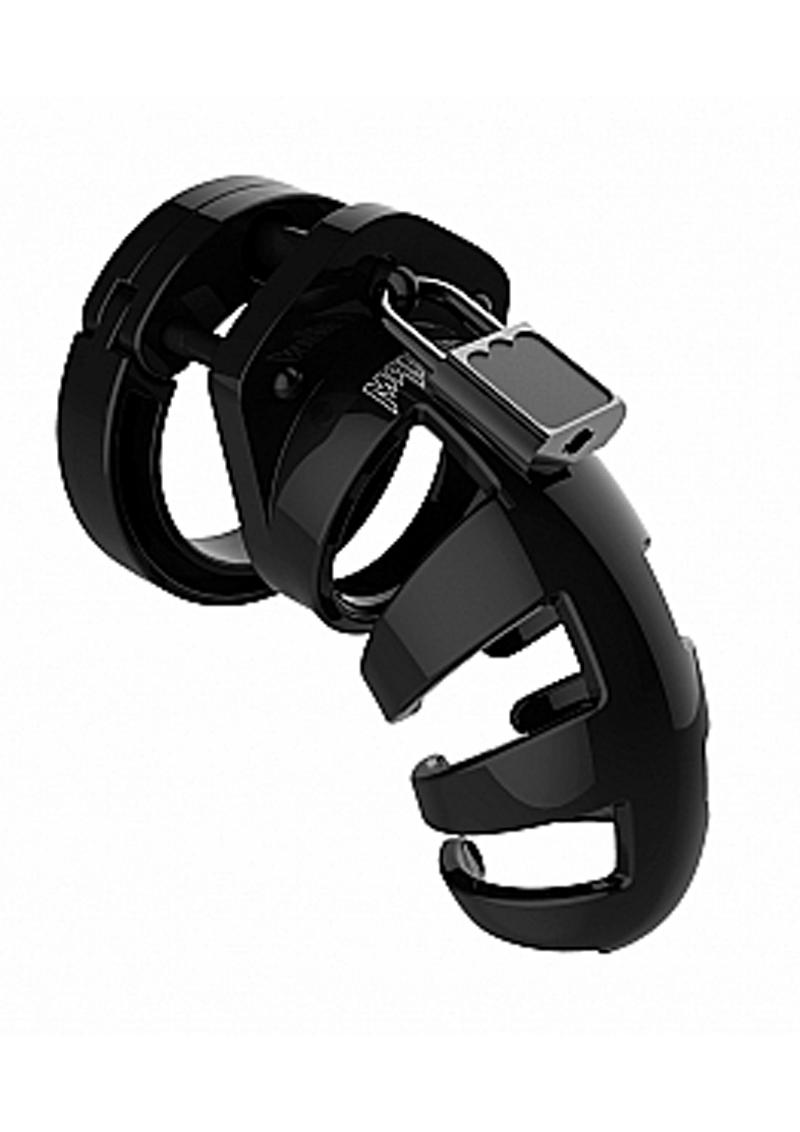 Man Cage Model 02 Male Chastity With Lock 3.5in - Black