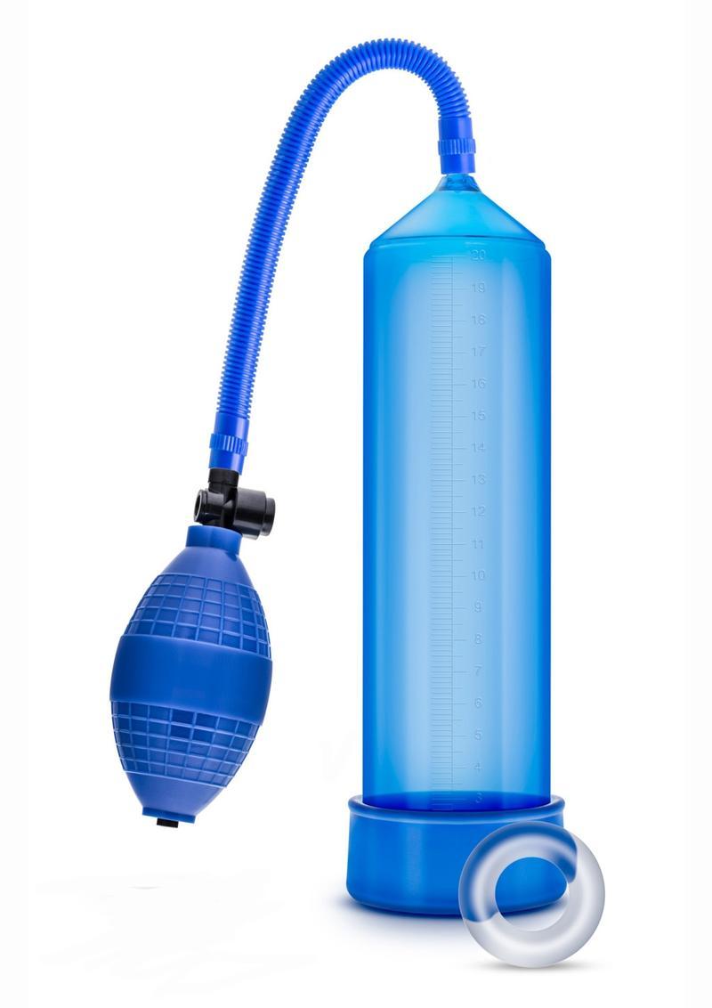 Performance VX101 Male Enhancement Pump 9.5in - Blue