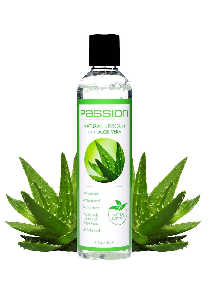 Passion Natural Water Based Lubricant with Aloe Vera 8oz