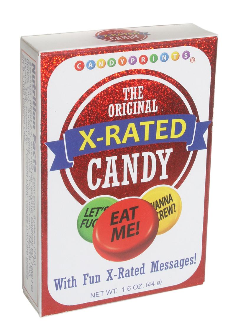 Candy Print X-rated Candy Display (6 Per Display)
