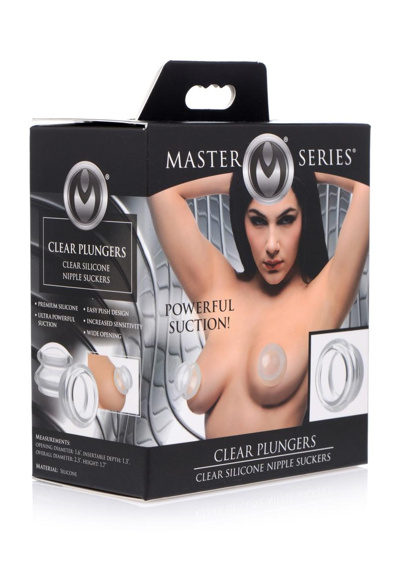 Master Series Clear Plungers Silicone Nipple Suckers - Large - Clear **Special Order**