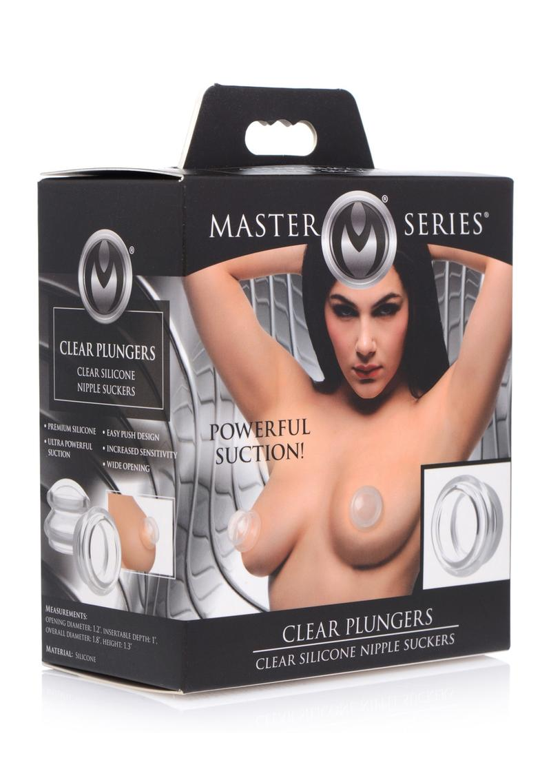 Master Series Clear Plungers Silicone Nipple Suckers - Small - Clear **Special Order**