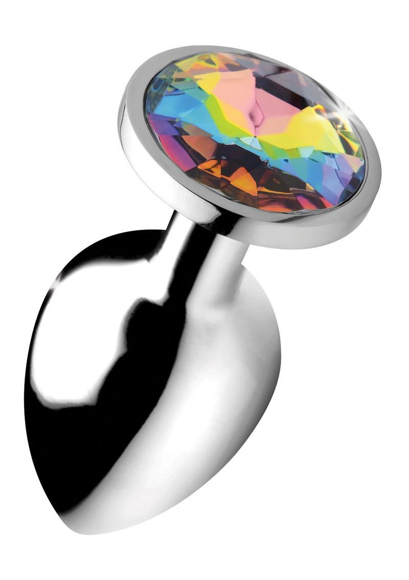Booty Sparks Rainbow Prism Gem Anal Plug - Large **Special Order**
