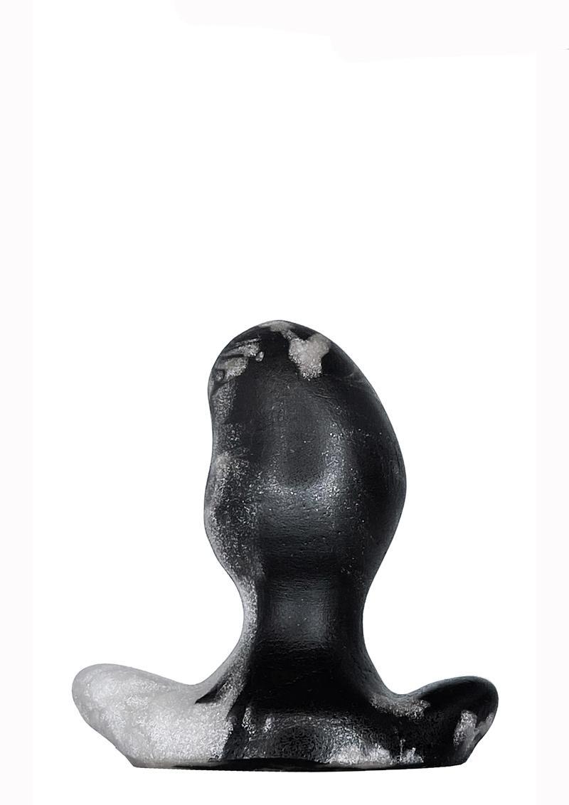 Oxballs Ergo Silicone Butt Plug - XSmall - Platinum Swirl