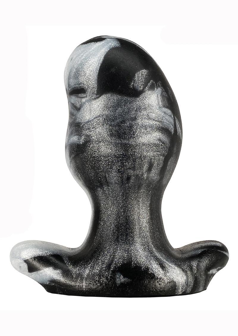Oxballs Ergo Silicone Butt Plug - XLarge - Platinum Swirl