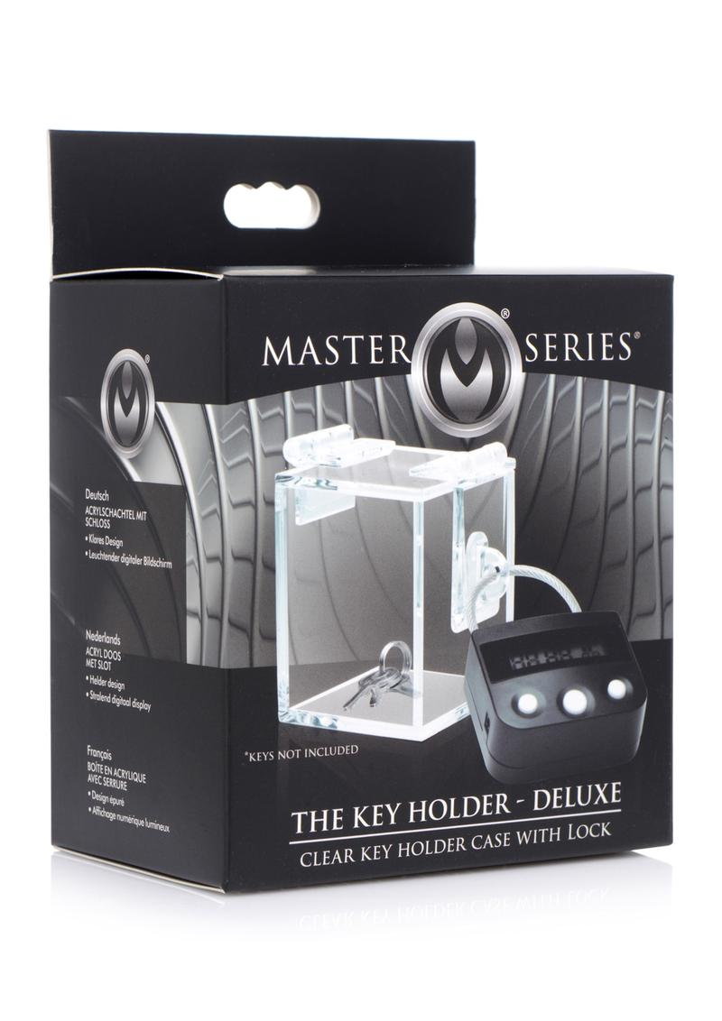 Master Series The Key Holder Deluxe Acrylic Case With Lock - Clear