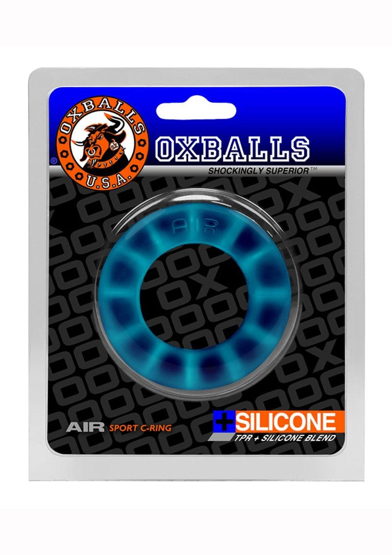 Oxballs Air Silicone Sport Cock Ring - Blue