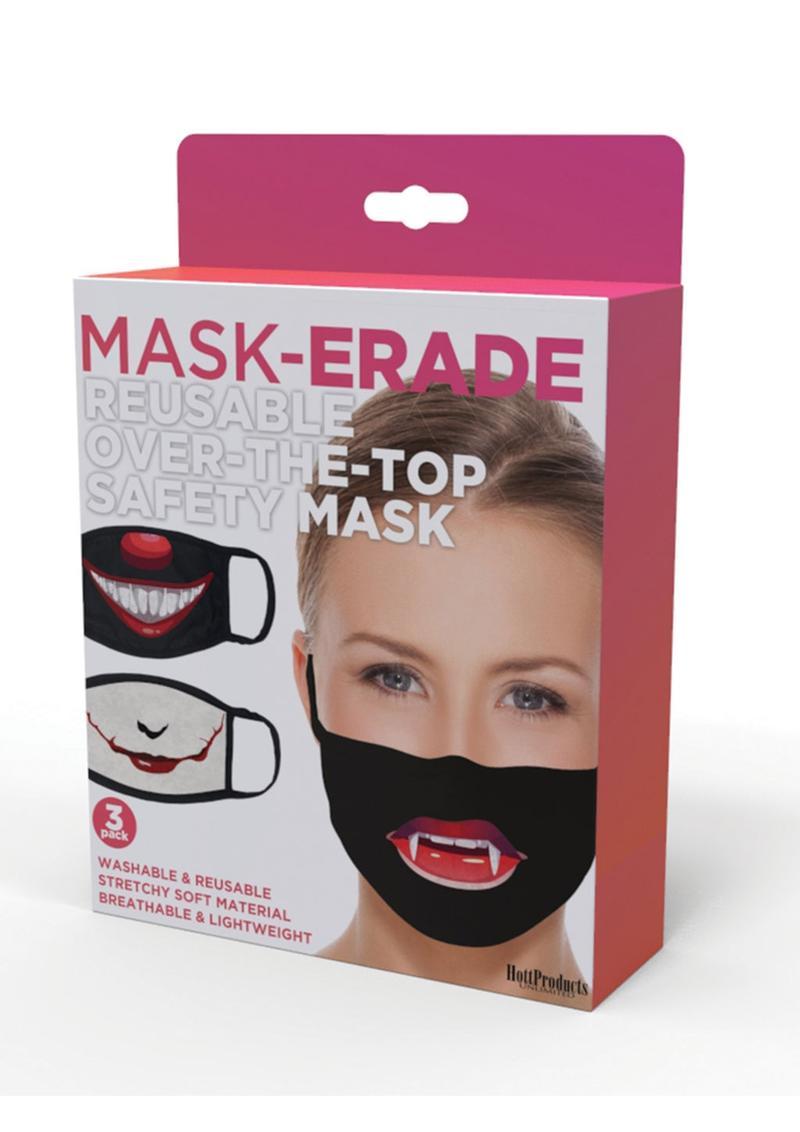 Maskerade Protective Mask (Joker/ Penny Wise/ Vampire) 3 Per Pack - Black