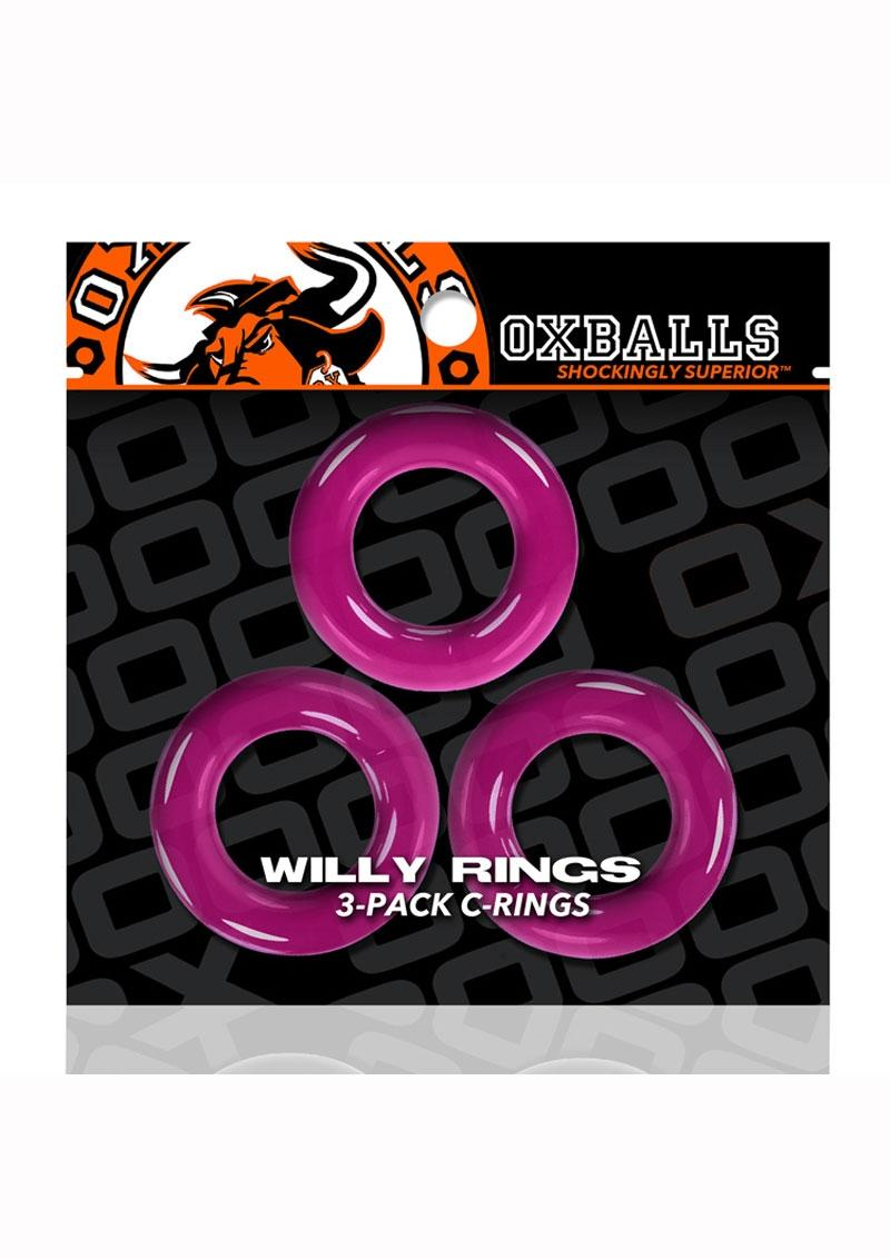 Oxballs Willy Rings 3pk Pink