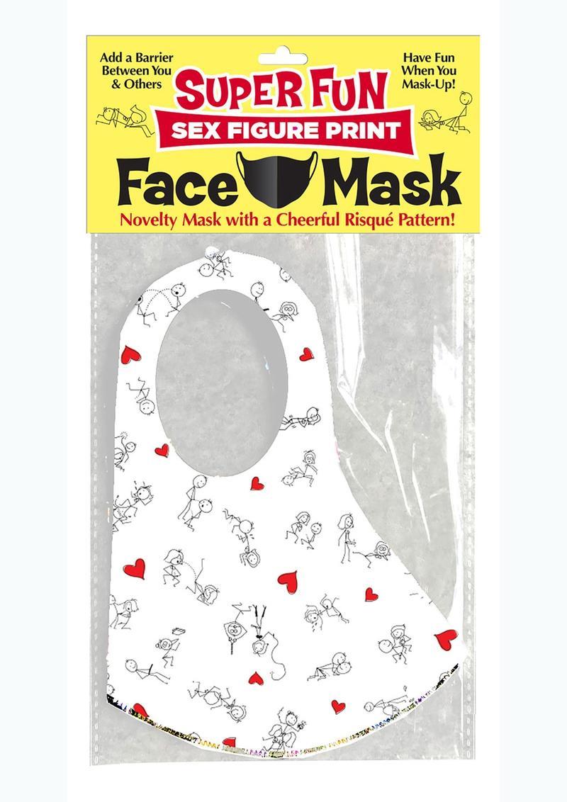 Super Fun Sex Position Mask - White/Black