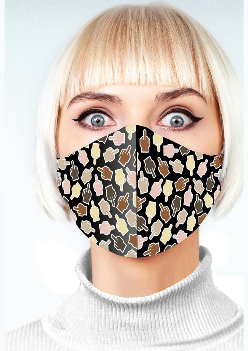 Super Fun F U Finger Mask - Animal Print