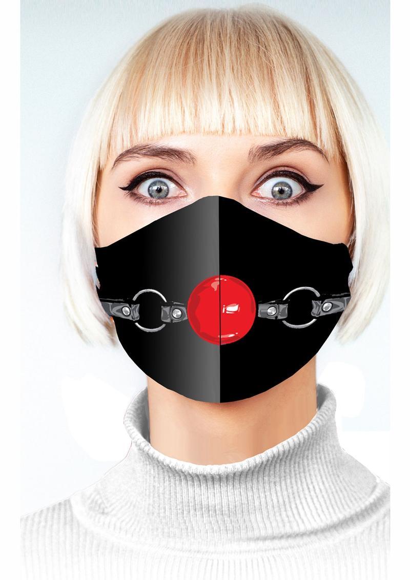 Super Naughty Ball Gag Mask - Black