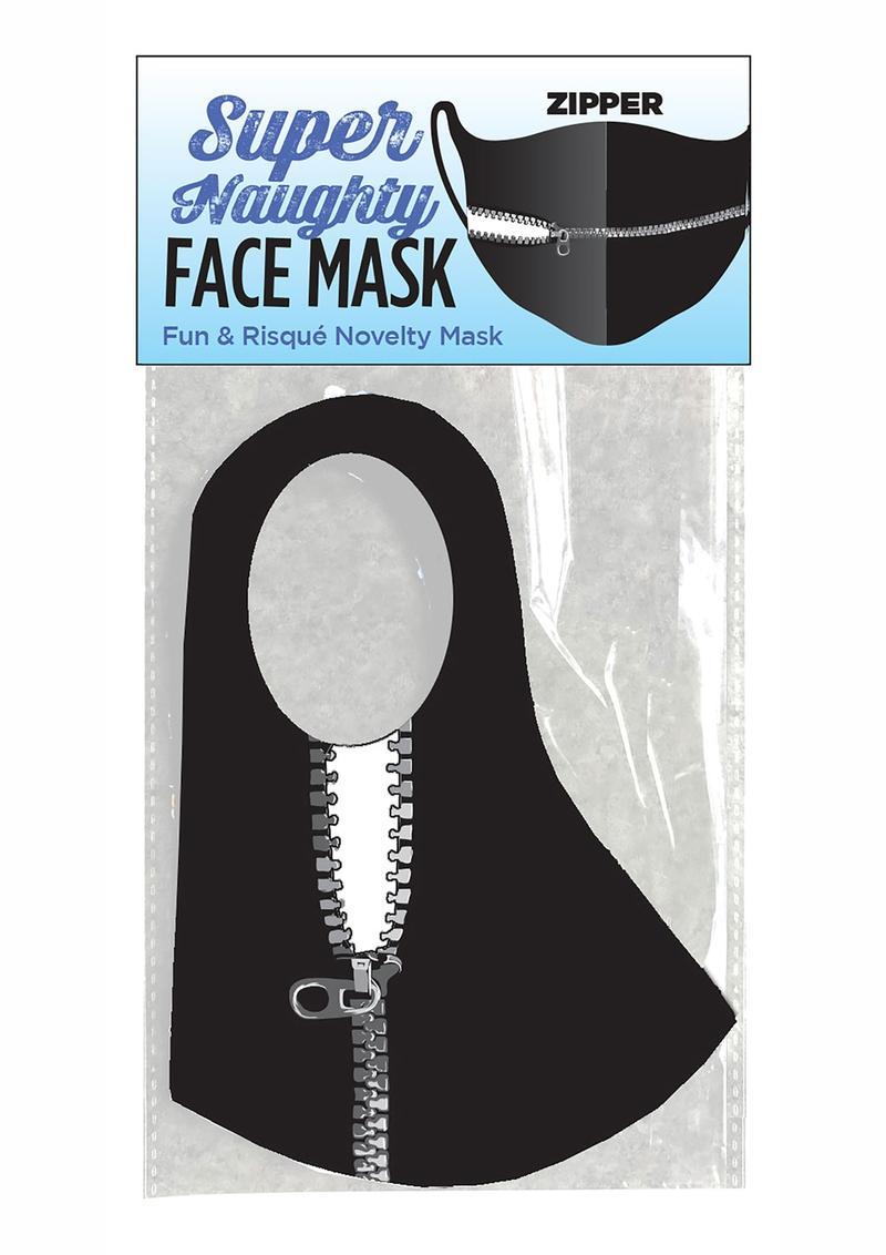Super Naughty Zipper Mouth Mask - Black