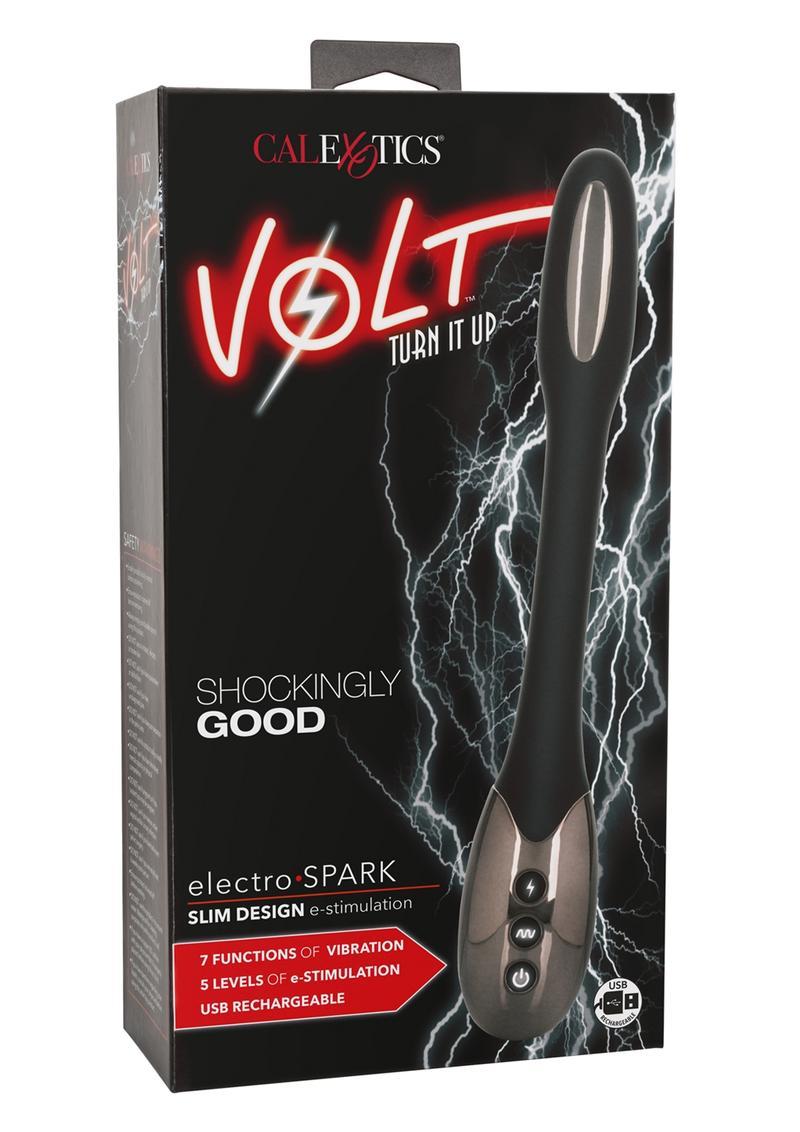 Volt Electro-Spark Rechargeable Electro-Stimulating Massager - Black