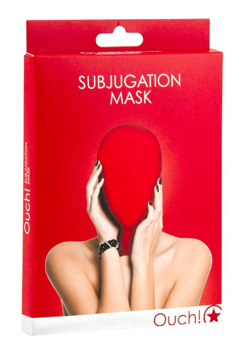 Ouch! Subjugation Mask - Red