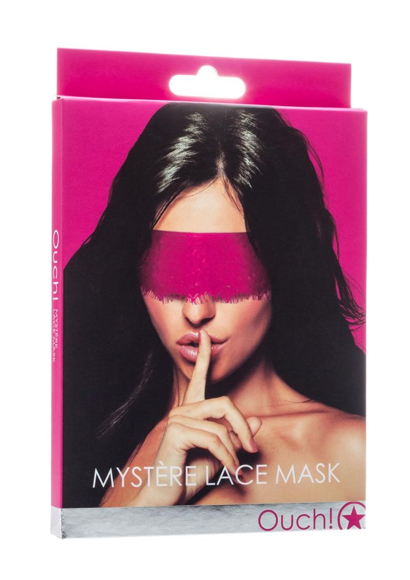 Ouch! Mystere Lace Mask - Pink
