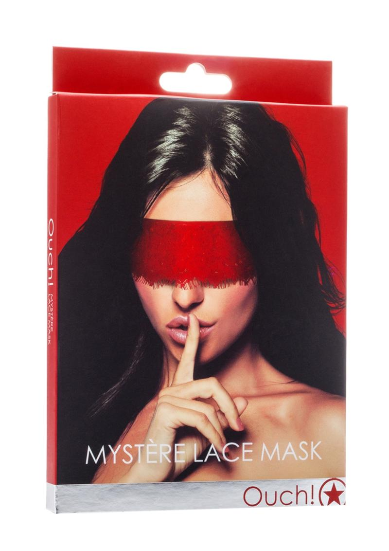 Ouch! Mystere Lace Mask - Red