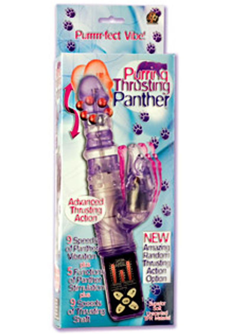 PURRING THRUSTING PANTHER 5.5 INCH PURPLE